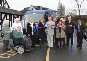 new low floor accessible Bus at Marygreen Manor Hotel Brentwood Essex 18th January 2012